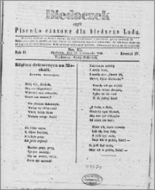 Biedaczek : czyli mały i tani tygodnik dla biednego ludu, 1849.11.21 R. 2 nr 15