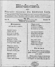 Biedaczek : czyli mały i tani tygodnik dla biednego ludu, 1849.12.15 R. 2 nr 22