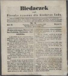 Biedaczek : czyli mały i tani tygodnik dla biednego ludu, 1850.01.09 R. 3 nr 3