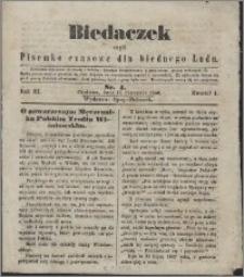 Biedaczek : czyli mały i tani tygodnik dla biednego ludu, 1850.01.12 R. 3 nr 4