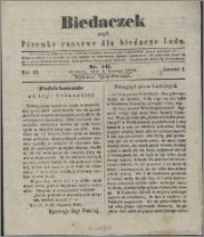 Biedaczek : czyli mały i tani tygodnik dla biednego ludu, 1850.02.02 R. 3 nr 10