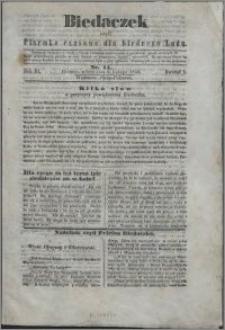 Biedaczek : czyli mały i tani tygodnik dla biednego ludu, 1850.02.06 R. 3 nr 11