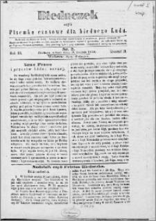 Biedaczek : czyli mały i tani tygodnik dla biednego ludu, 1850.04.10 R. 3 nr 2
