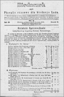 Biedaczek : czyli mały i tani tygodnik dla biednego ludu, 1850.04.17 R. 3 nr 4
