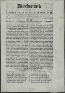 Biedaczek : czyli mały i tani tygodnik dla biednego ludu, 1850.06.01 R. 3 nr 16