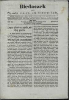 Biedaczek : czyli mały i tani tygodnik dla biednego ludu, 1850.06.08 R. 3 nr 18