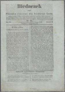 Biedaczek : czyli mały i tani tygodnik dla biednego ludu, 1850.06.22 R. 3 nr 22