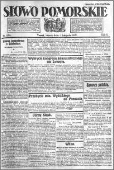 Słowo Pomorskie 1921.11.01 R.1 nr 250