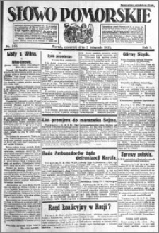 Słowo Pomorskie 1921.11.03 R.1 nr 251