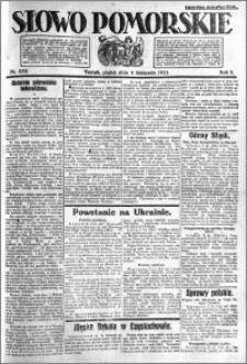 Słowo Pomorskie 1921.11.04 R.1 nr 252