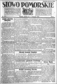 Słowo Pomorskie 1921.11.05 R.1 nr 253