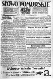 Słowo Pomorskie 1921.11.06 R.1 nr 254