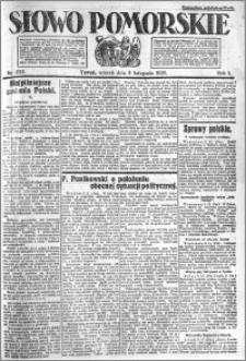Słowo Pomorskie 1921.11.08 R.1 nr 255