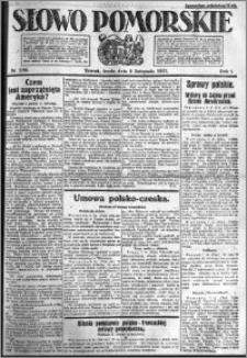 Słowo Pomorskie 1921.11.09 R.1 nr 256