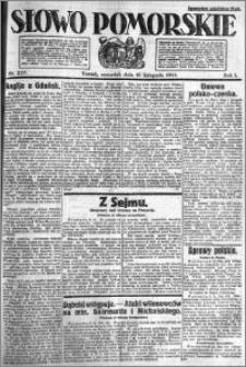 Słowo Pomorskie 1921.11.10 R.1 nr 257
