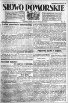 Słowo Pomorskie 1921.11.11 R.1 nr 258
