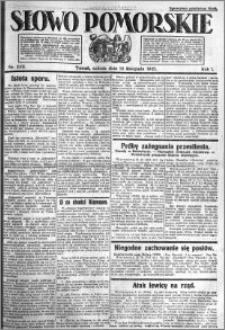 Słowo Pomorskie 1921.11.12 R.1 nr 259