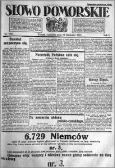 Słowo Pomorskie 1921.11.13 R.1 nr 260
