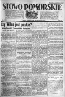 Słowo Pomorskie 1921.11.15 R.1 nr 261