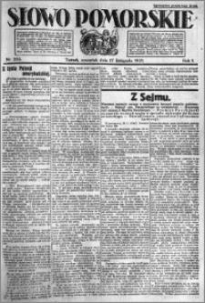 Słowo Pomorskie 1921.11.17 R.1 nr 263