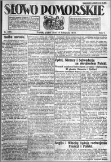 Słowo Pomorskie 1921.11.18 R.1 nr 264