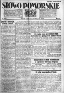 Słowo Pomorskie 1921.11.19 R.1 nr 265