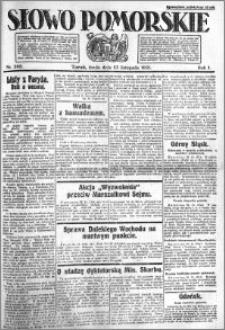 Słowo Pomorskie 1921.11.23 R.1 nr 268