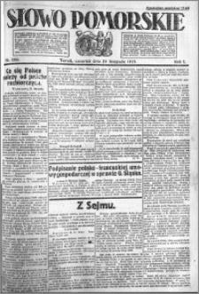 Słowo Pomorskie 1921.11.24 R.1 nr 269
