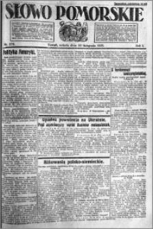 Słowo Pomorskie 1921.11.26 R.1 nr 271