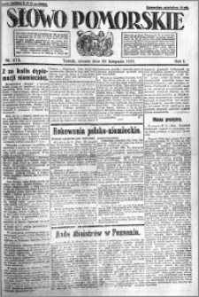 Słowo Pomorskie 1921.11.29 R.1 nr 273
