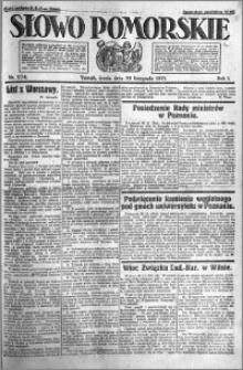 Słowo Pomorskie 1921.11.30 R.1 nr 274