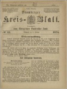 Bromberger Kreis-Blatt, 1874, nr 12