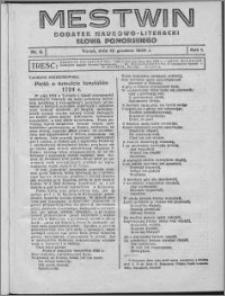 Mestwin, R. 1 nr 5, (1925)