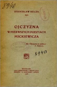 Ojczyzna w pierwszych poezyach Mickiewicza