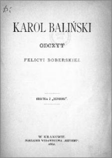 Karol Baliński : odczyt