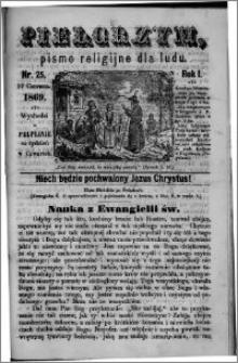 Pielgrzym, pismo religijne dla ludu 1869 rok I nr 25