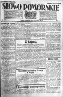 Słowo Pomorskie 1921.12.01 R.1 nr 275