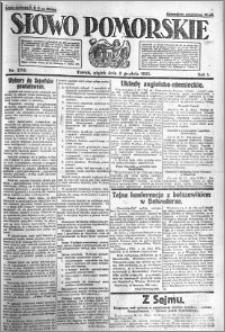 Słowo Pomorskie 1921.12.02 R.1 nr 276