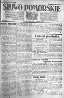 Słowo Pomorskie 1921.12.07 R.1 nr 280