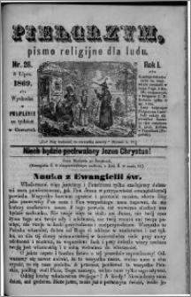 Pielgrzym, pismo religijne dla ludu 1869 rok I nr 28