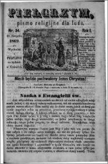 Pielgrzym, pismo religijne dla ludu 1869 rok I nr 34