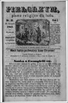 Pielgrzym, pismo religijne dla ludu 1869 rok I nr 35