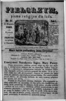 Pielgrzym, pismo religijne dla ludu 1869 rok I nr 37