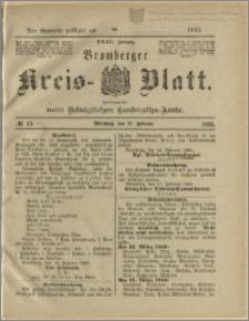 Bromberger Kreis-Blatt, 1883, nr 15
