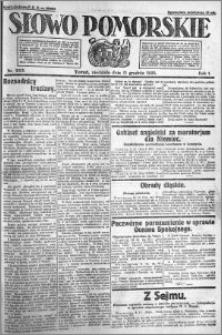 Słowo Pomorskie 1921.12.11 R.1 nr 283