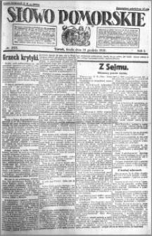 Słowo Pomorskie 1921.12.14 R.1 nr 285
