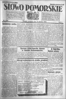Słowo Pomorskie 1921.12.15 R.1 nr 286