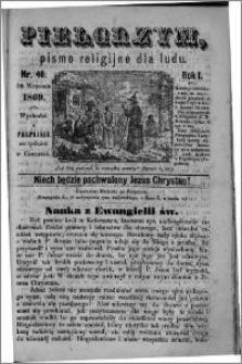 Pielgrzym, pismo religijne dla ludu 1869 rok I nr 40