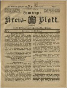 Bromberger Kreis-Blatt, 1885, nr 7
