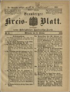 Bromberger Kreis-Blatt, 1885, nr 12